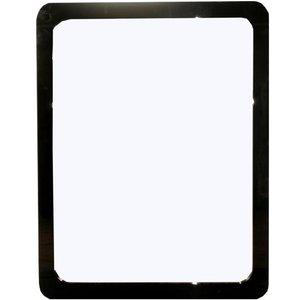 Annaghmore Clarus Black Rectangular Mirror - 70cm X 90cm, Black