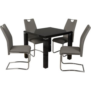 Annaghmore Clarus Black Square Dining Table, Black