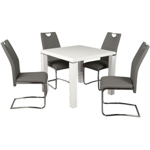 Annaghmore Clarus White Square Dining Table, White