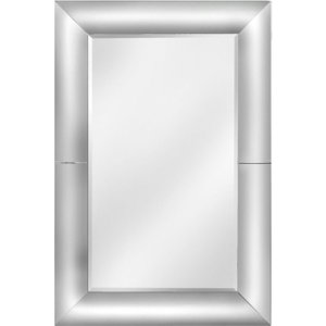 Deco Home Clear Rounded Frame Rectangular Wall Mirror - 100cm X 150cm