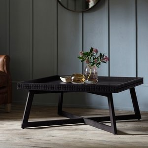Gallery Direct Clearance - Gallery Boho Boutique Black Coffee Table - New - Fss9062, Mat Black Charcoal