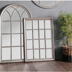 Clearance - Gallery Direct Ashmore Antique Silver Rectangular Mirror - 106cm X 75.5cm - Ne, Distressed