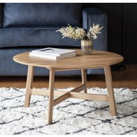 Gallery Direct Clearance - Gallery Madrid Oak Round Coffee Table - New - E-584