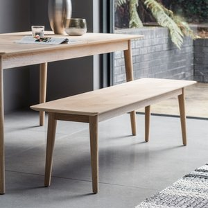 Gallery Direct Clearance - Gallery Milano Oak Dining Bench - New - Fss9216, Matt Lacquer