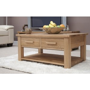 Clearance - Homestyle Gb Opus Oak Storage Coffee Table - New - Fs672