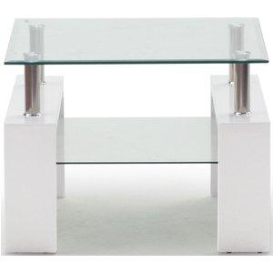 Clearance - Vida Living Calico White End Table - New - Fss9312, White High Gloss