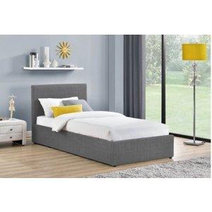 Clearance Half Price - Birlea Berlin Ottoman Fabric 4ft Small Double Bed - New - D101, Grey