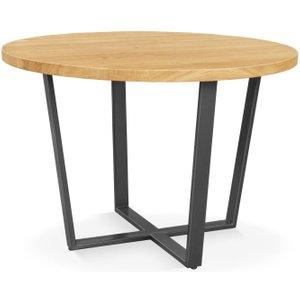 Clemence Richard Palermo Rustic Oak Round Dining Table, Oak