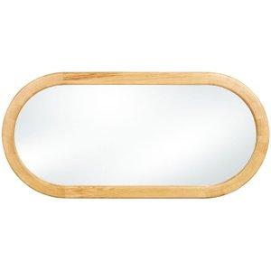 Clemence Richard Sorento Oak Oval Mirror - 70cm X 148cm