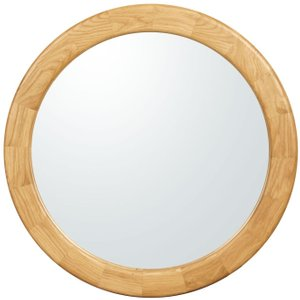 Clemence Richard Sorento Oak Round Mirror - Dia 70cm