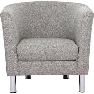 Furniture To Go Cleveland Nova Light Grey Fabric Armchair, Nova Light Grey