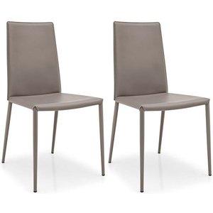 Calligaris Connubia Boheme Leather Dining Chair (pair)