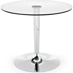 Calligaris Connubia Planet Glass Round Dining Table - 90cm