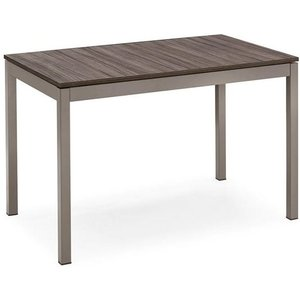 Calligaris Connubia Snap Wooden And Metal Rectangular Extending Dining Table - 110cm-160cm
