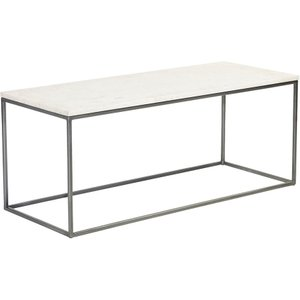Content By Terence Conran Chelsea Rectangular Coffee Table - White Marble And Chrome, White and Silver