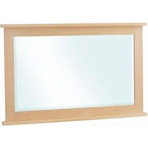 Corndell Nimbus Satin Oak Rectangular Mirror, Satin
