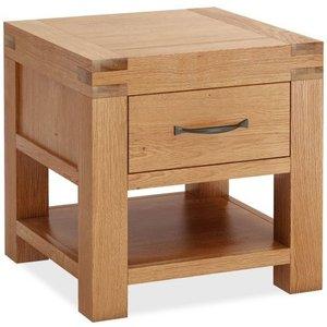 Corndell Sherwood Rustic Oak Lamp Table, Oak