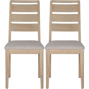 Corndell Woodstock Dining Chair - Oak (pair)