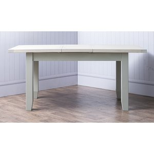 B & S Costwold Oak And Grey Painted 140cm Extending Dining Table, Misty Grey Painted
