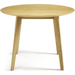 Croydon Oak Round Fixed Top Dining Table - Serene Furnishings