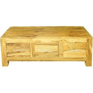 Indian Furniture Company Cuban Petite Mango Wood Coffee Table