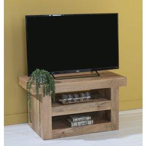 Urban Deco Dakota Indian Mango Wood 110cm Medium Tv Unit - Light