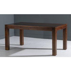 Urban Deco Dakota Indian Mango Wood Rectangular Dining Table - Dark