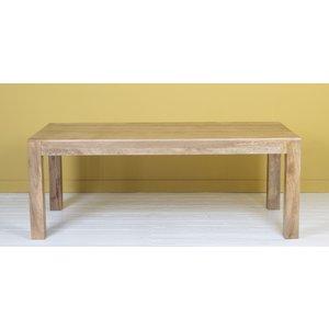 Urban Deco Dakota Indian Mango Wood 200cm Rectangular Dining Table - Light
