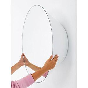 Deknudt Mirrors Deknudt Edvard White Round Wall Mirror, White