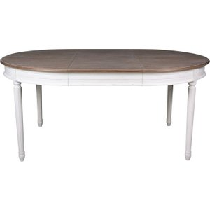 French International Delphine French Off-white Painted 120cm-170cm Round Extending Dining Table, white