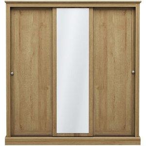 Cfs Value Devon 3 Door Sliding Wardrobe - Oak Effect, Oak