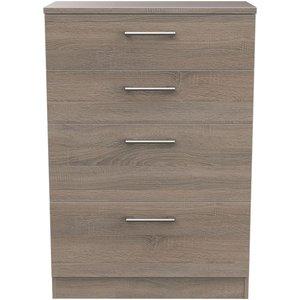 Welcome Furniture Devon Darkolino 4 Drawer Deep Chest, Darkolino