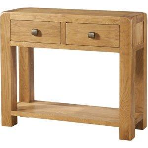 Devonshire Pine and Oak Devonshire Avon Oak 2 Drawer Console Table