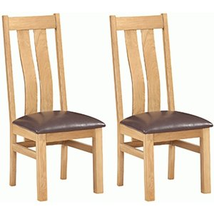 Devonshire Pine and Oak Devonshire Dorset Oak Arizona Dining Chair (pair)