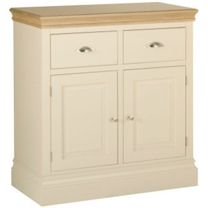 Devonshire Pine and Oak Devonshire Lundy Ivory Painted Narrow Sideboard
