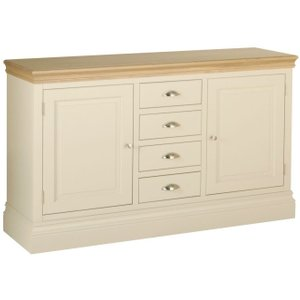 Devonshire Pine and Oak Devonshire Lundy Ivory Painted Wide Sideboard