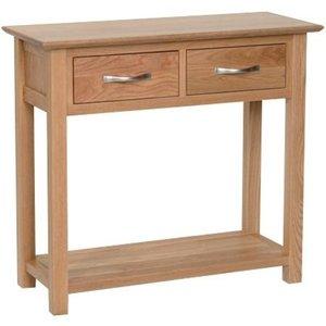 Devonshire Pine and Oak Devonshire New Oak 2 Drawer Console Table