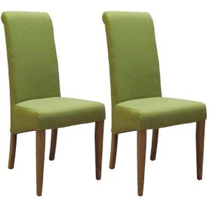 Devonshire Pine and Oak Devonshire New Oak Lime Fabric Dining Chair (pair)