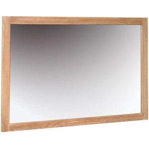 Devonshire Pine and Oak Devonshire New Oak Rectangular Wall Mirror - 130cm X 90cm, Light Oak