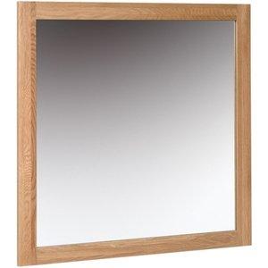 Devonshire Pine and Oak Devonshire New Oak Square Wall Mirror - 90cm X 90cm, Light Oak