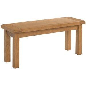 Devonshire Pine and Oak Devonshire Somerset Oak Dining Bench, Wax