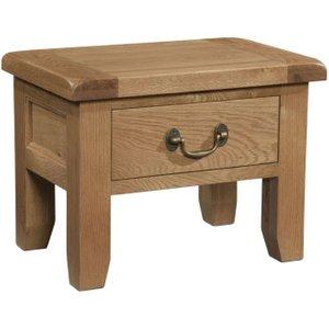 Devonshire Pine and Oak Devonshire Somerset Oak Side Table, Wax