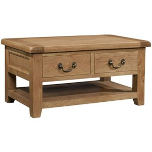 Devonshire Pine and Oak Devonshire Somerset Oak Storage Coffee Table