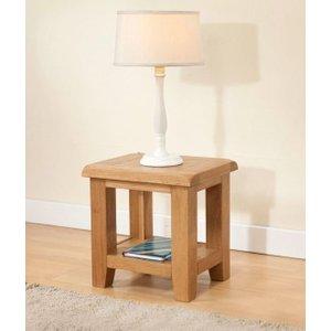 The Oak House Dorset Oak Lamp Table