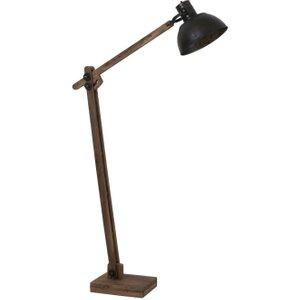 Light & Living Ekerd Weather Barn Black Wood Floor Lamp, Black