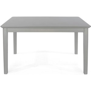Cfs Value Elgin Grey Painted Dining Table - Glass Top, Grey Painted and Glass Top