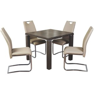 Annaghmore Encore Charcoal Square Dining Table, Charcoal