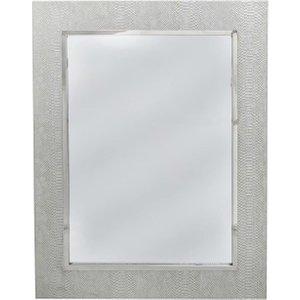 Deco Home Enna Silver Faux Snakeskin Wall Mirror - 70cm X 90cm, Silver