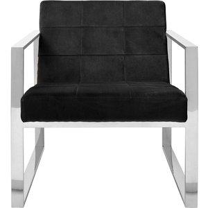Luxe Interiors Envi Black Velvet Cocktail Chair, Black