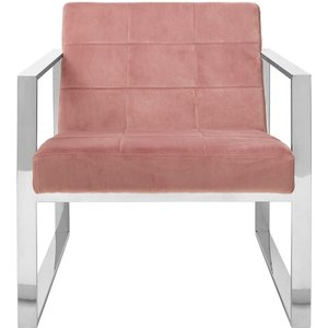 Luxe Interiors Envi Pink Velvet Cocktail Chair, Pink
